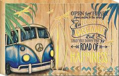 Dreams Kombi Revival LED Light Up wall Light Box by Lisa Pollock Metal Garden Art, Beach House Decor, Home Decor, Bar Signs, Soft Furnishings, Soy Candles, Light Up, Dreaming Of You, Volkswagen