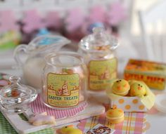 Miniature Easter Cookie Assortment by CuteinMiniature on Etsy