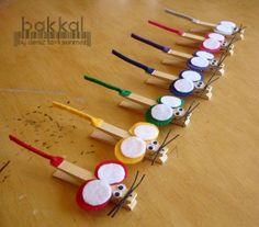 11 creatieve zelfmaak ideetjes met wasknijpers! Heel leuk voor de kinderen!