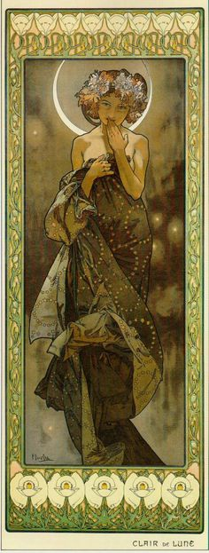 The Moon, Alphonse Mucha