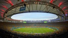 A general view of the stadium during the 2014 FIFA World Cup Brazil