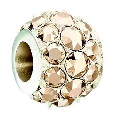 #Chamilia #Christmas #Bead #Charm #Rose #Crystal