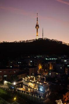 앰배서더 호텔 역사박물관 전경 Panoramic night view of Ambassador Hotel Museum