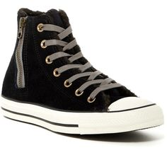 Converse Chuck Taylor All Star Side Zip Faux Fur Lined Hi Top Sneaker