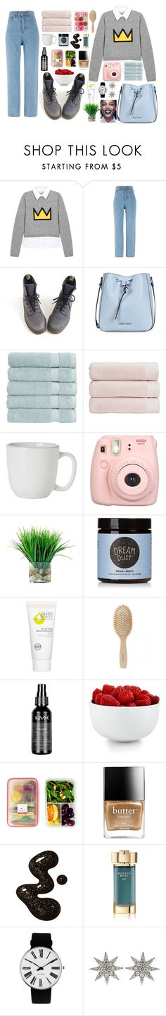 """Untitled #541"" by flawless-willie ❤ liked on Polyvore featuring Alice + Olivia, Dr. Martens, Armani Jeans, Christy, Juliska, Fujifilm, Moon Juice, Juice Beauty, Meraki and Charlotte Russe"