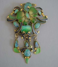 Vega Maddox opal brooch with butterfly