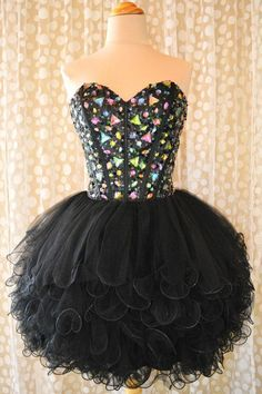 Custom Made Short Black Sweetheart Neck Prom Dresses Short Black Homecoming Dresses