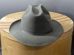 2fef557ad7f67 Royal Stetson Fedora Open Road Gray Beaver Fur Snap Brim - Men s Size 7 1 4