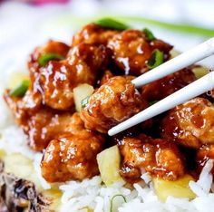 Sticky Pineapple Ginger Chicken | Food Recipes