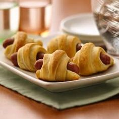 Mini Crescent Dogs... so yummy! Serve with various mustards and dipping sauces. A family favorite of ours.