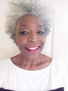 Grey Hair Don't Care, Short Grey Hair, Hair Care, Silver Grey Hair, Gray Hair, Beautiful Women Over 50, Curly Hair Styles, Natural Hair Styles, Natural Afro Hairstyles
