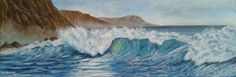 ARTFINDER: A perfect wave by Gianluca Cremonesi - A lovely and gorgeous place, a perfect spot for painting the sea!   Original oil on canvas, 20 x 60 cm. - The side is painted, no need to frame. Feel free...