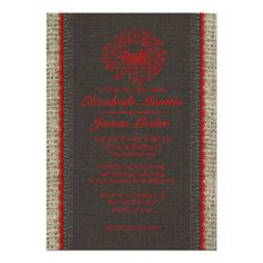 See MoreBlack & Red Vintage Lace Wedding Invitations Custom InvitationYes I can say you are on right site we just collected best shopping store that have