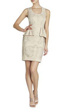 Etna Lace Peplum Sheath Dress | BCBG
