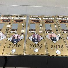 Raise your hand if you do locker decorations for #volleyball season! Senior girls locker strips for 2016 Volleyball Season.