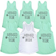 Set Of 12 Mermaid Tribe Arrow Bachelorette Party Bridesmaid