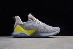 3d0b31256 Mens adidas Alphabounce Beyond 2 M Grey Tan Yellow Shoes AQ0576-1 Yellow  Shoes