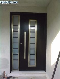 Puertas exteriores madera y crital buscar con google for Puertas de entrada principal minimalistas