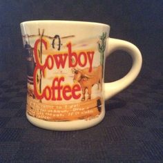 Westwood Stoneware Western Cowboy Coffee Cup Mug Outdoors Ranch #Westwood
