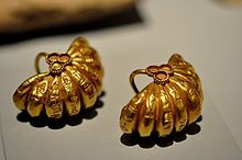 The cuneiform inscriptions on this pair of earrings state that these earrings were a gift from king Shulgi. The Sulaymaniyah Museum, Iraq. A Pair of Golden Earrings from the Time of Shulgi, the second King of Ur III Dynasty (2093-2046 BC) By: Osama Shukir Muhammed Amin FRCP(Glasg)