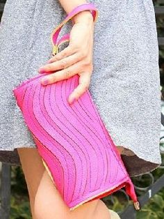 Hot Pink Wave Wristlet Clutch Wallet Purse Wristlet Wallet, New Fashion, Hot Pink, Purses, Pretty, Sweaters, Bags, Clothes, Wallets