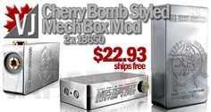 BONAFIDE STEAL! – Gorgeous Cherry Bomber Styled Mech Mod – $22.93