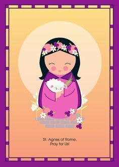 Saint Agnes Print