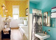 bright tiny bathrooms