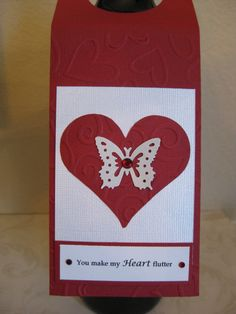 Valentine's Day Wine Bottle Tag by RoseGardenCreations