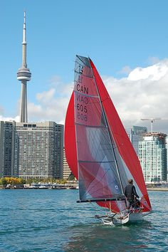 _/) Sailing in Toronto ( Lake Ontario) Visit Canada, Canada Eh, Toronto Canada, Toronto City, Richmond Hill, Best Cities, Sailboat, Cn Tower, Niagara Falls