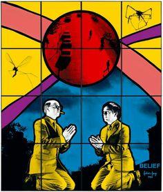 Belief (1983) Gilbert & George, Heaven And Hell, Korean Art, Collaborative Art, Art Moderne, Land Art, Light Art, Art World, Contemporary Artists