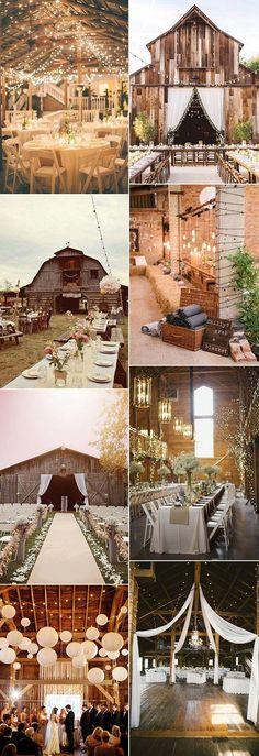 country rustic wedding barn decoration ideas