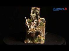 Hombre con asno en movimiento cm. 8 para el belén   venta online en HOLYART