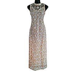 Elegant Gold Glitter 1930s Sleeveless Halter-Neck Long by Jywal