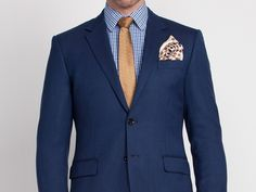 Made from luxurious Super wool, the medium weight suit has a rich textured appearance and soft hand-feel. Blue Suit Style, Suit Fashion, Mens Fashion, Shirt And Tie Combinations, Three Piece Suit, Custom Clothes, Men Dress, Suit Jacket, Vest