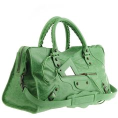 Balenciaga Green Bag Part Time ($1,480) found on Polyvore would never spend so much but love it
