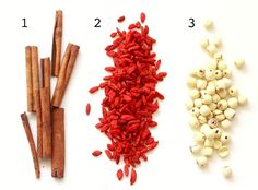 Guide to Chinese Medicinal Herbs - cassia (cinnamon), goji berry, lotus nut season-with-spice Healing Herbs, Medicinal Herbs, Natural Healing, Natural Medicine, Herbal Medicine, Benefits Of Berries, Cinnamon Health Benefits, Lotus, Chinese Herbs