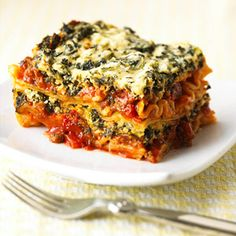 Eggplant stands in for pasta in this low-fat vegetarian casserole