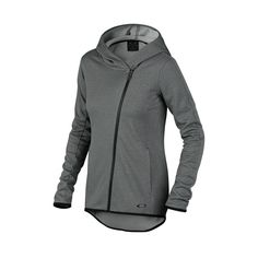 Shop Oakley Full-Zip Training Hoodie in DARK HEATHER GRAY at the official Oakley online store.