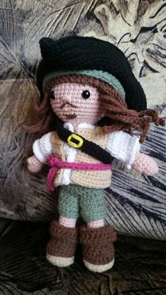 My handsome pirate ♡ Pattern: Laura Tegg