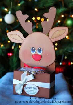 Paper Creations by Kristin: Reindeer Gift Box