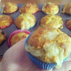 Muffins salati: pesto di pistacchio e formaggio!