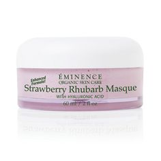 Replenish your skin's youthful appearance with our Strawberry Rhubarb Masque. The strawberries gently exfoliate while the rhubarb and vegan-friendly hyaluronic acid calm and plump, for a refreshed appearance. Winner of Professional Moisturizing Product, Sister's Beauty Pro Awards, Hong Kong, 2010