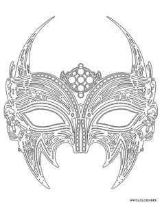 coloriage masque vénitien vampire grande image