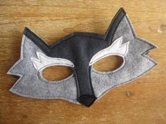 Felt Wolf mask and tail set by littlebitdesignshop on Etsy, $30.00, kids costume, animal mask