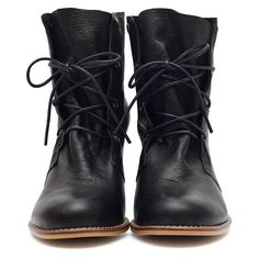 Black Raceup Boots. These black boots are cute and casual for everyday wear, they also have a moderate heel which makes them a bit dressier than your standard riding boot.