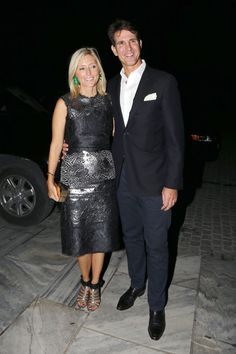 Crown Prince Pavls celebrated his wife Marie-Chantal of Greece 46th birthday along with the pre-50th wedding anniversary of his parents the former King and Queen of Greece in Athens, Greece 9/18/2014