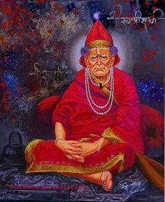 All God Images, Jay Maa Kali, Saints Of India, Swami Samarth, Swami Vivekananda Quotes, Arc Reactor, God Pictures, Gouache Painting, Sanskrit