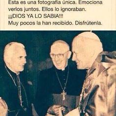 Pope Francis, Pope Benedict XVI, Pope John Paul II Catholic Art, Catholic Saints, Papa Francisco Frases, San Francisco, Religion, Pope Benedict Xvi, Pope John Paul Ii, Paul 2, Religious Quotes