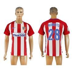 Atletico Madrid 16-17 #Roberto 28 Hemmatröja Kortärmad,259,28KR,shirtshopservice@gmail.com
